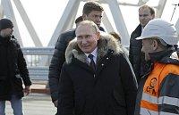 Ruský prezident Vladimir Putin navštívil Krym
