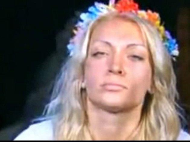 Aktivistka ukrajinského hnutí Femen Inna Ševčenková