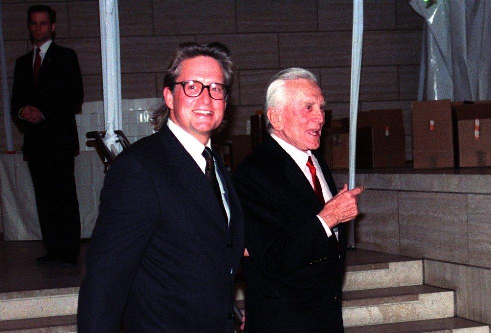 Kirk Douglas a jeho syn Michael