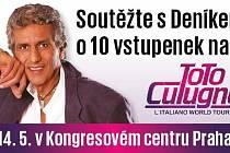 Zapojte se sDeníkem do soutěže o 10 vstupenek na koncert zpěváka Toto Cutugno