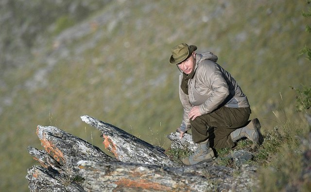 Vladimir Putin na dovolené.