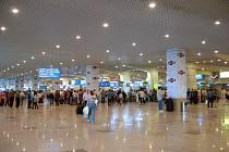 Terminál moskevského letiště Domodědovo, kde se 24. ledna 2011 odpálil sebevražedný atentátník