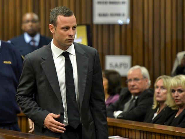 Obžalovaný Oscar Pistorius před soudem.