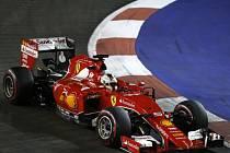 Sebastian Vettel ve Velké ceně Singapuru.