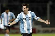 Hvězdný střelec Argentiny Lionel Messi.