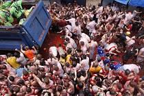 Rajčatová bitva ve Španělsku.