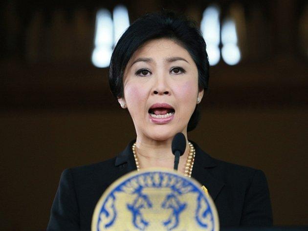 Thajská premiérka Jinglak Šinavatrová.