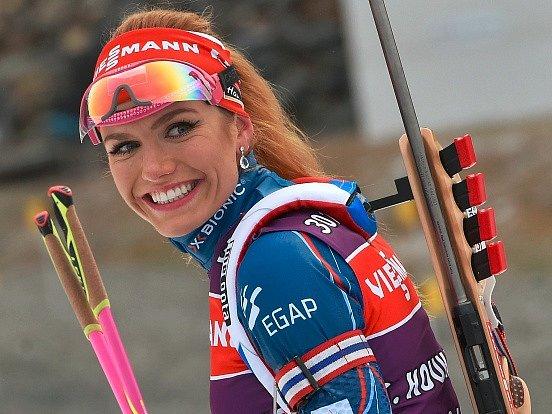 Gabriela Koukalová v Novém Městě na Moravě