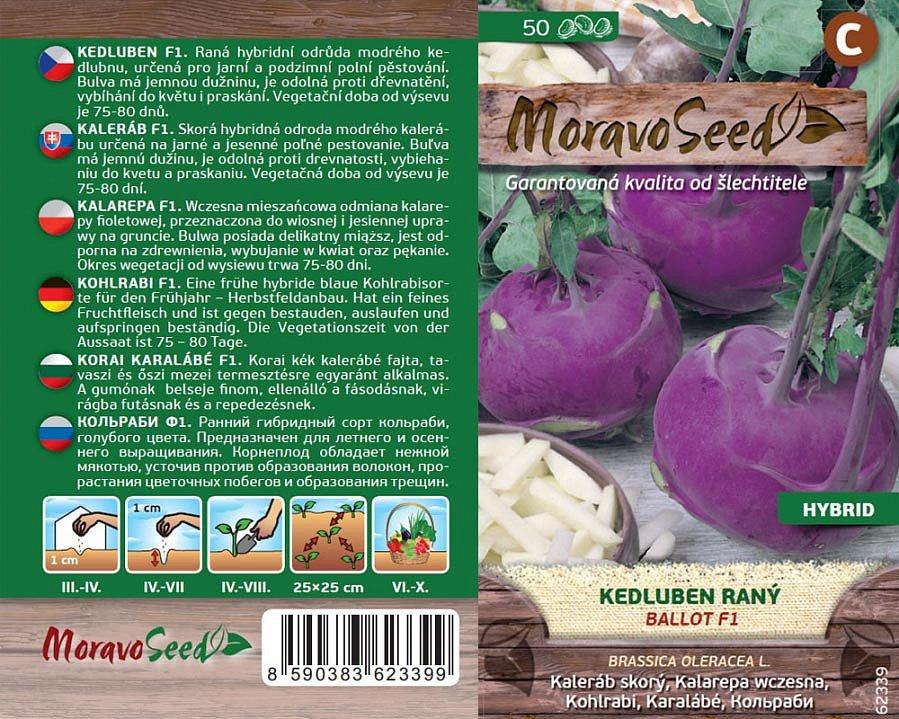 Kromě klasických druhů zeleniny lze dnes koupit i semínka jarních odrůd. Na snímku kedluben Ballot F1