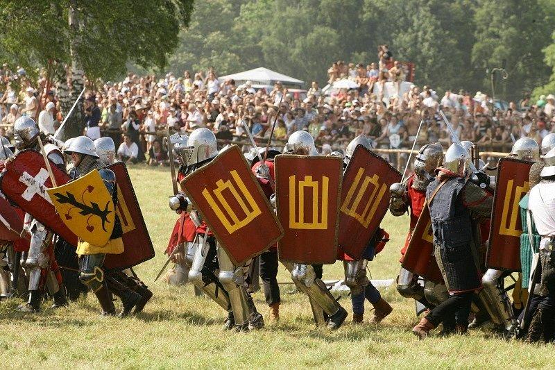 Litevští reenactoři při rekonstrukci bitvy u Žalgirisu