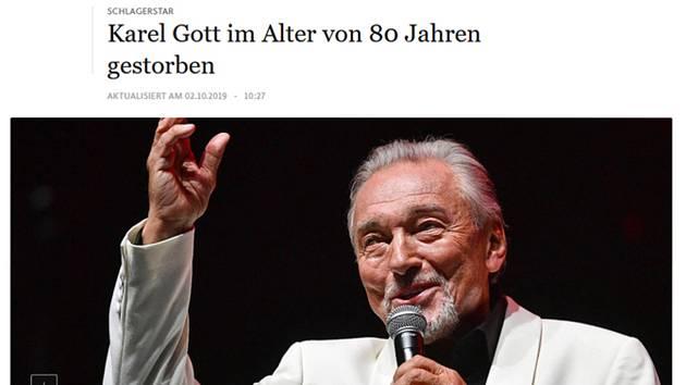 Screenshot webové stránky německého deníku Frankfurter Allgemeine z 2. října 2019