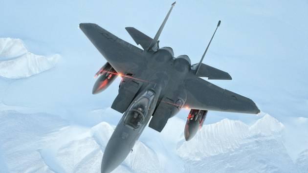 Ilustrační foto. Americký stíhací letoun F-15