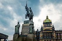 Socha sv. Václava na Václavském náměstí v Praze