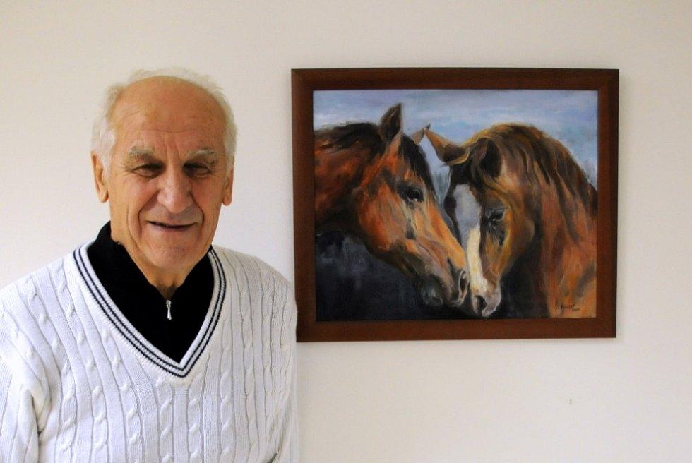 Ivo Fibiger i maluje a dříve měl výstavy.