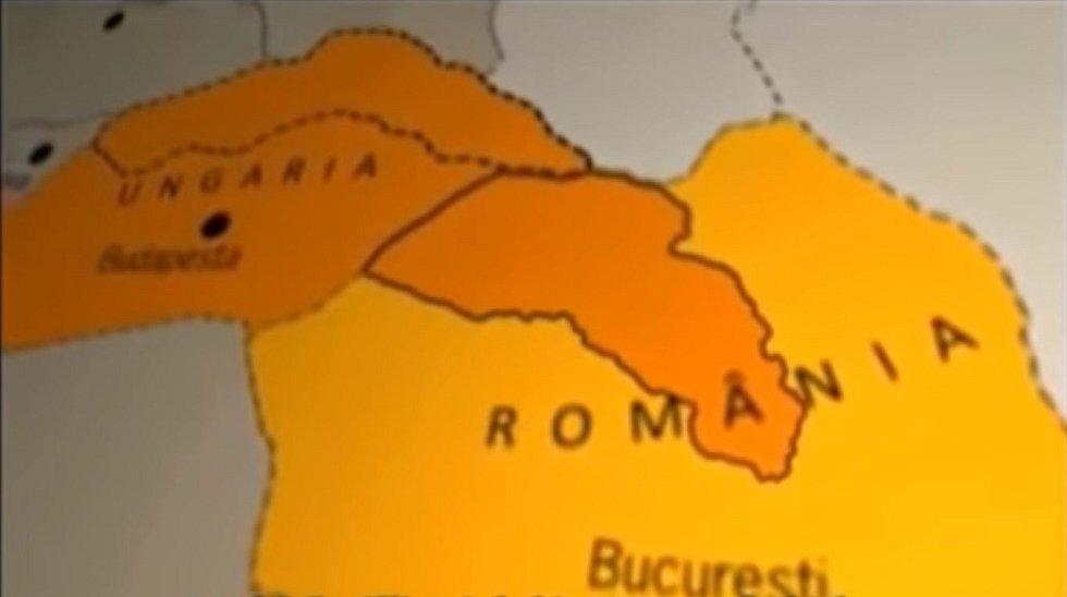 Maďarský vpád vytvořil hluboký klín v rumunském území