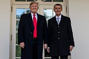 Americký prezident Donald Trump a český premiér Andrej Babiš