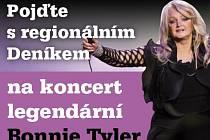 Pojďte s regionálním Deníkem na koncert legendární Bonnie Tyler.