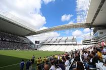Stadion Itaquerao v Sao Paulu pro fotbalové MS.