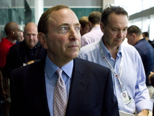 Komisař NHL Gary Bettman.