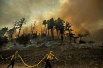 Požár v Kalifornii v okrese Sonoma