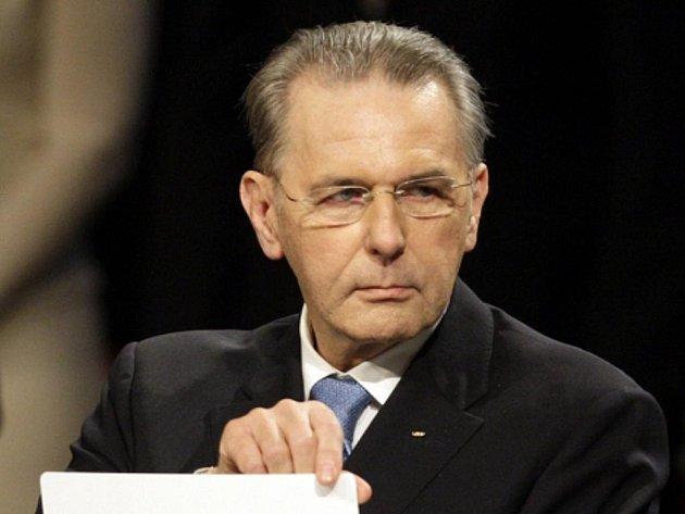 Prezident Mezinárodního olympijského výboru Jacgues Rogge.