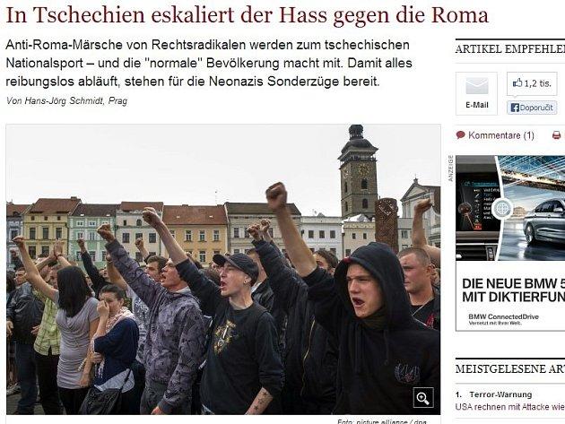 Německý Die Welt píše o rostoucím rasismu v České republice.