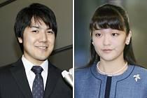 Japonská princezna Mako a její přítel Kei Komuro