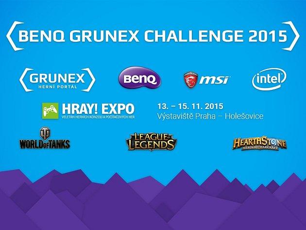 Pozvánka na turnaj v počítačových hrách - BenQ Grunex Challenge 2015.