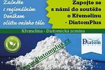 Zapojte se s námi do soutěže o Křemelinu - DiatomPlus, která pomáhá ke správnému vývoji našeho organismu.