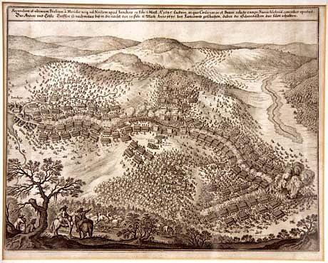 Dobové vyobrazení bitvy u Jankova
