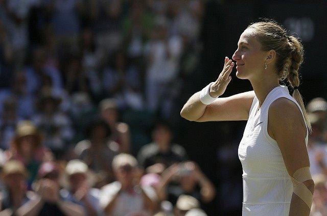 Česká tenistka Petra Kvitová na Wimbledonu