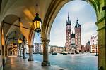 Krakov, bazilika Panny Marie na hlavním náměstí