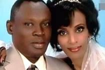 Meriam Ishagová s manželem.