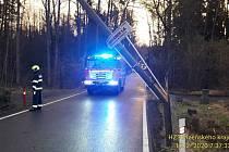 Výjezd hasičů v Plzeňském kraji