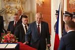 Prezident Miloš Zeman podruhé jmenuje předsedu hnutí ANO Andreje Babiše předsedou vlády.