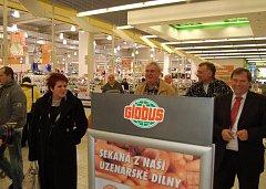 Miloš Zeman v chomutovském Globusu