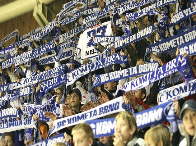 Hokejová utkání v Brně provází výtečná atmosféra.