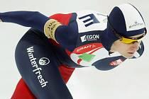 Martina Sablíkova na trati 5 kilometrů při Světovém poháru v Moskvě.