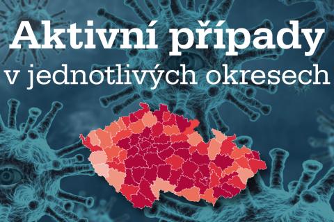 Přinášíme přehled nákazy koronavirem v jednotlivých okresech v České republice.