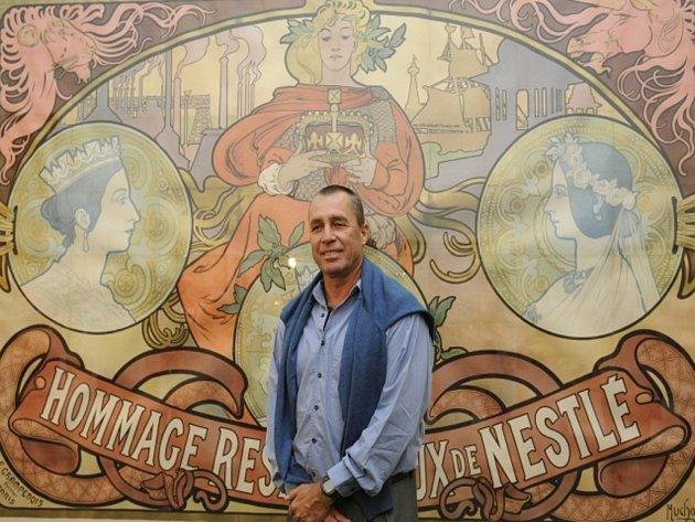 Ivan Lendl vystoupil na výstavě své sbírky plakátů Alfonse Muchy.