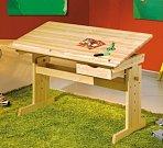 Rostoucí psací stůl JULIA, masiv borovice