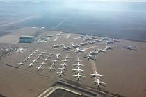 Největší evropské skladiště letadel