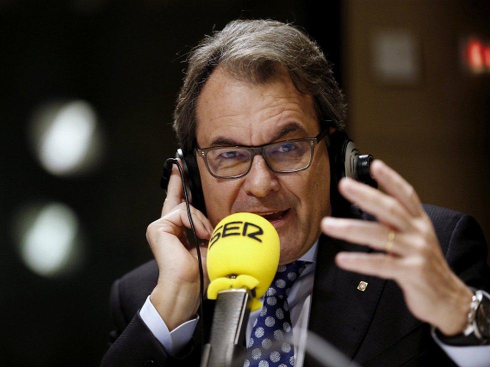 Úřadující katalánský premiér Artur Mas.