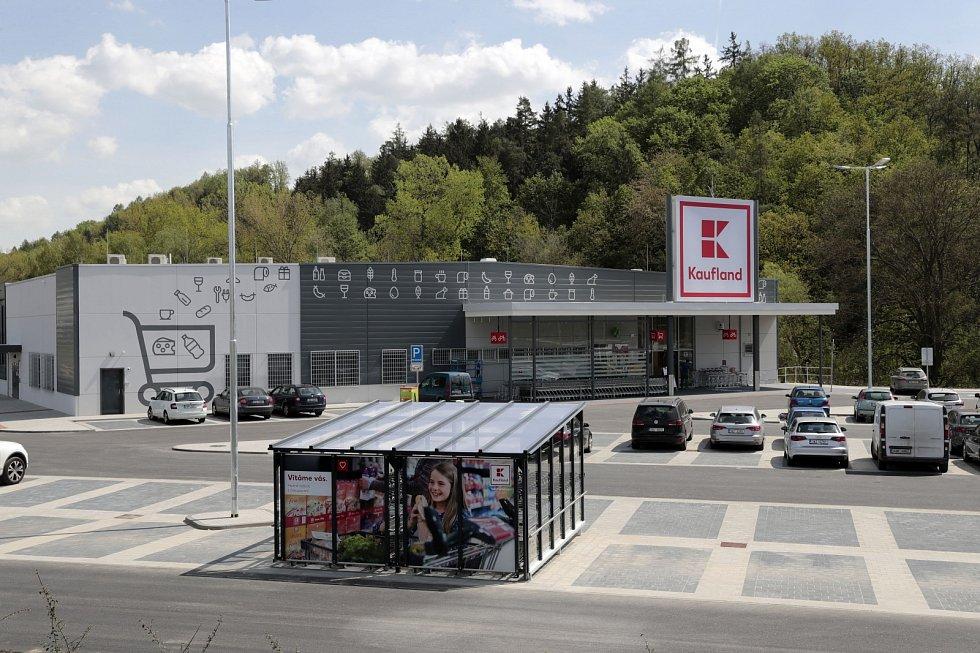 Obchodní řetězec Kaufland v Kuřimi.