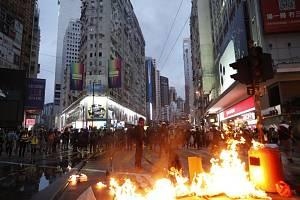 Blokáda silnice v Honkongu