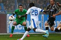 Fotbalové utkání play off Evropské ligy mezi domácím týmem Slovan Liberec a italským Udinese Calcio v Liberci 29. srpna.