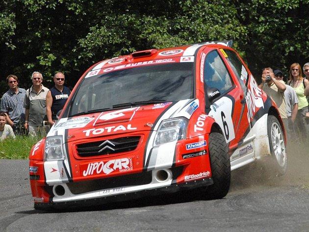 Martin Prokop na archivním snímku z Rallye Bohemia.