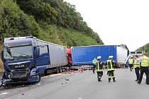 Nehoda na dálnici. Ilustrační foto