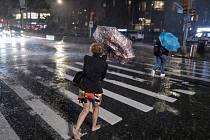 Pozůstatky hurikánu Ida přinesly do New Yorku vydatné deště