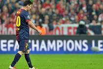 Zklamaný Lionel Messi.